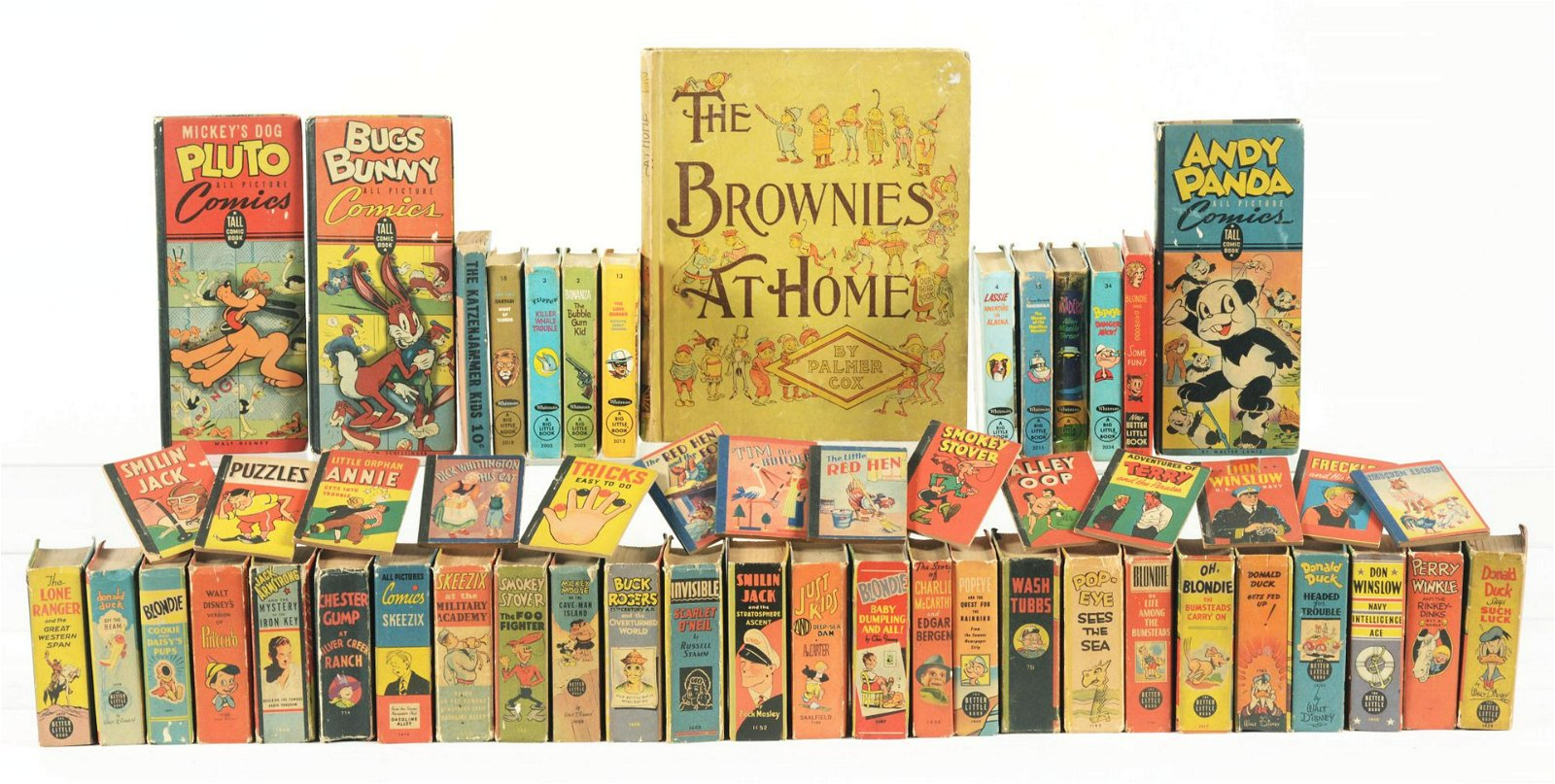Large Lot of Early & Later Big Little Type Books.