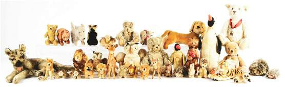 Large Lot of Stuffed Animals, Primarily Steiff,