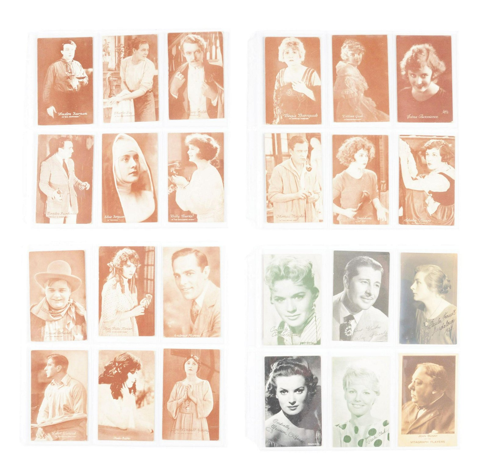 Book Of Vintage Actors & Singers Postcards.