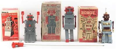 Lot of 3 American Made Plastic Robots