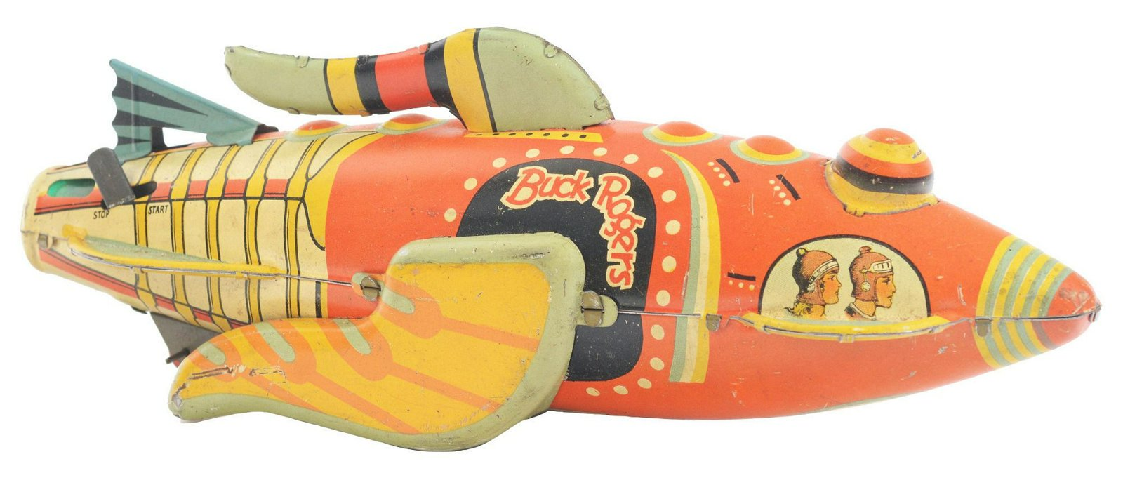 Marx Tin-Litho Wind-Up Buck Rogers Rocketship.