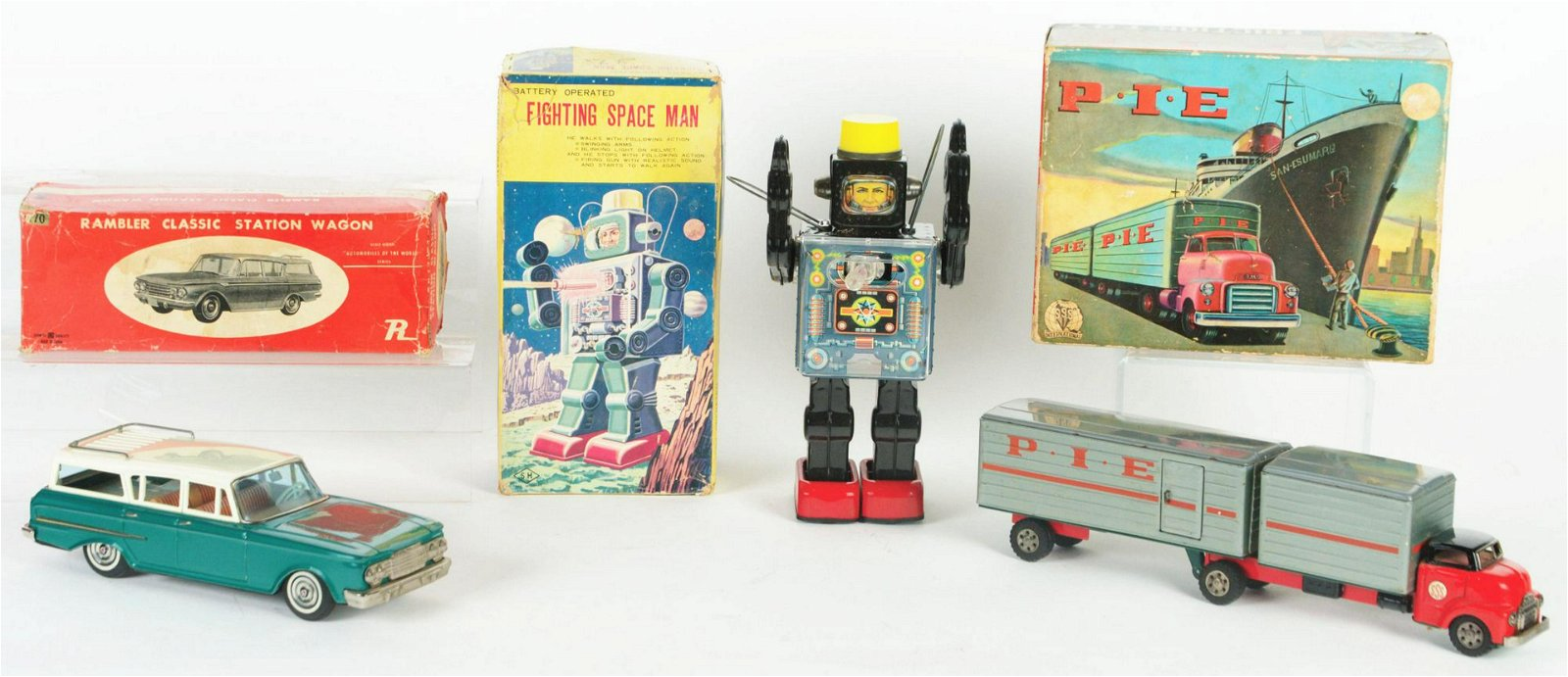 Lot of 3: Japanese Tin-Litho Battery-Operated and