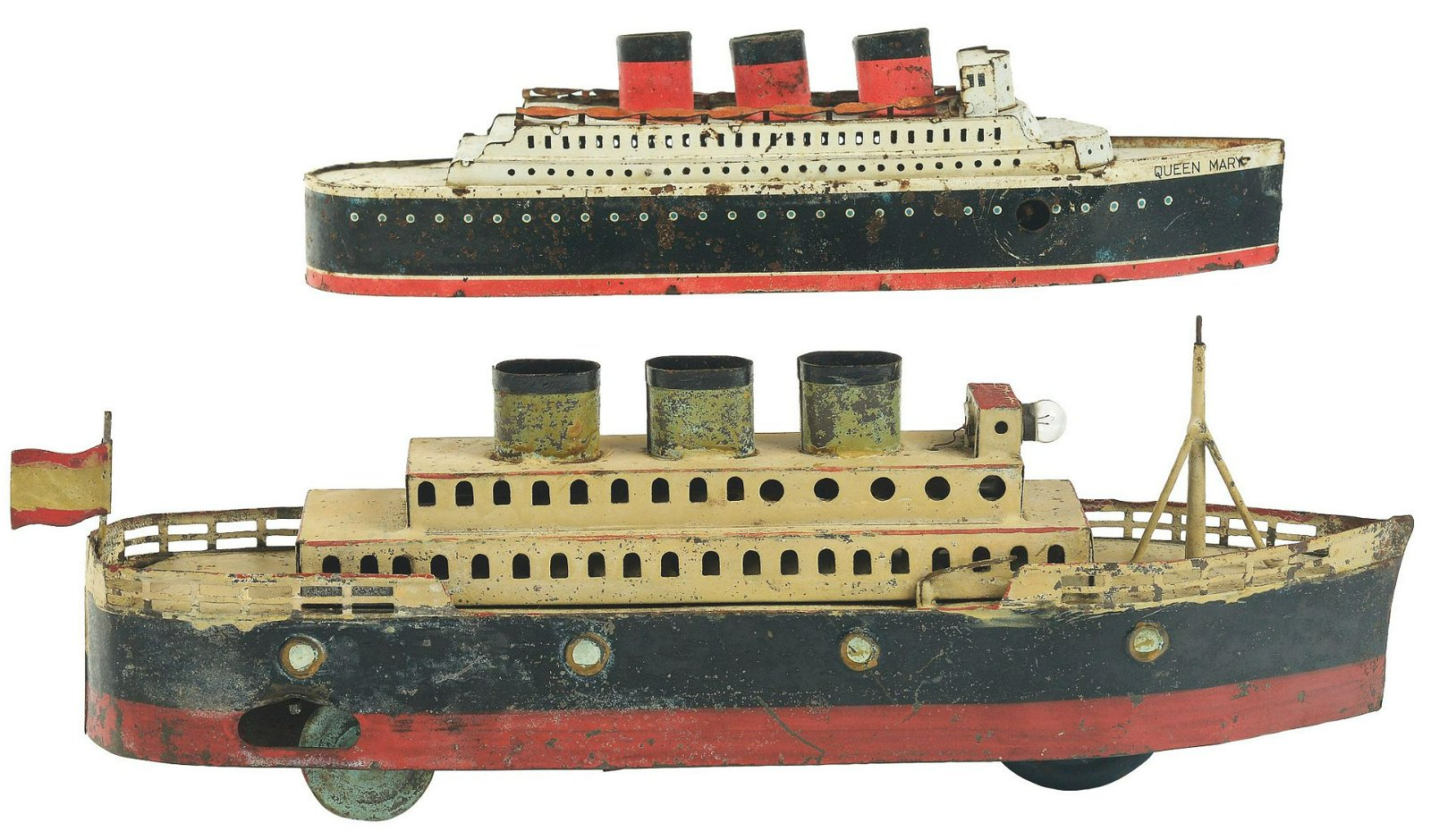 Lot of 2: Pre-War Japanese Tin-Litho Wind-Up Ocean