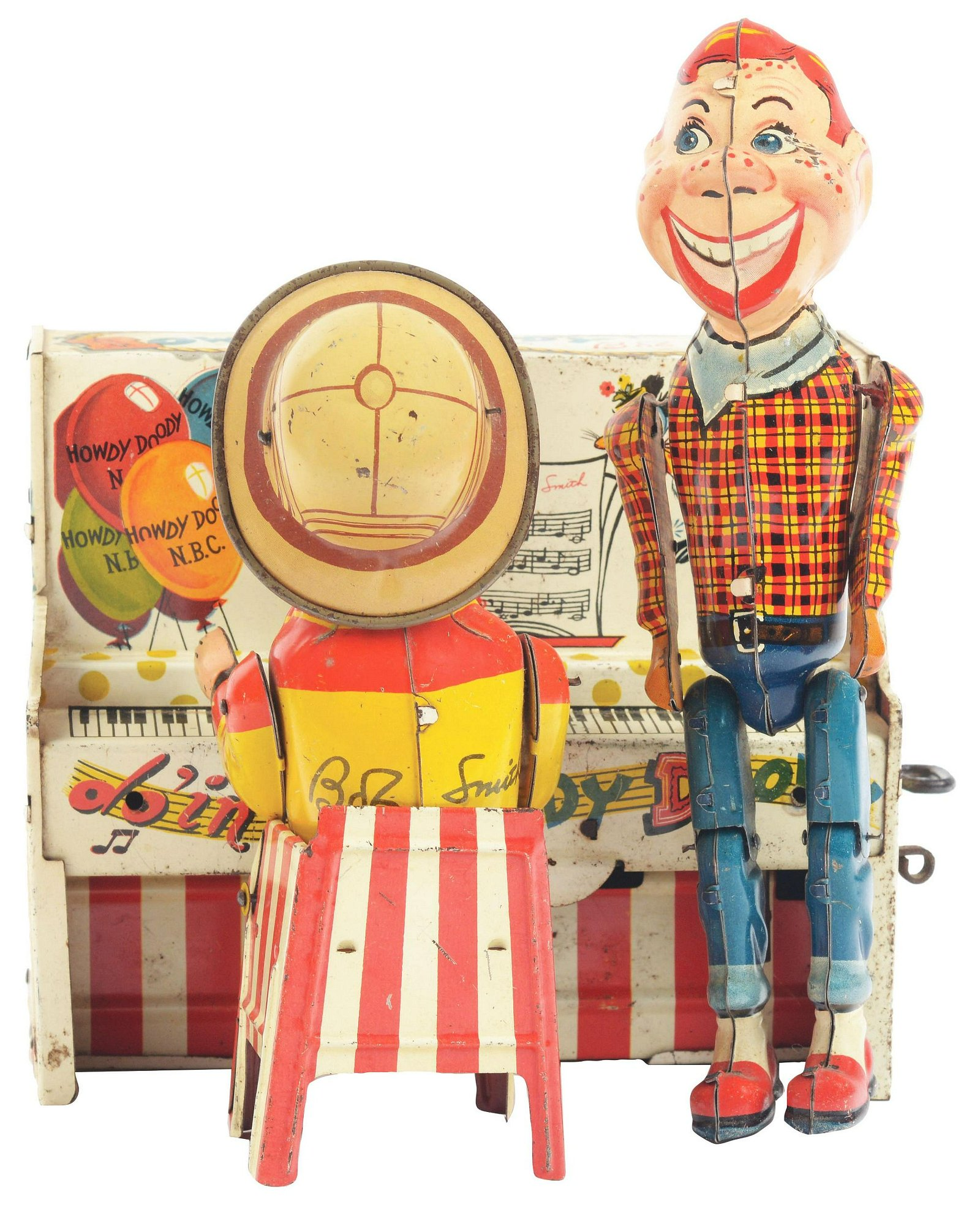 Unique Art Tin-Litho Wind-Up Howdy Doody Band.