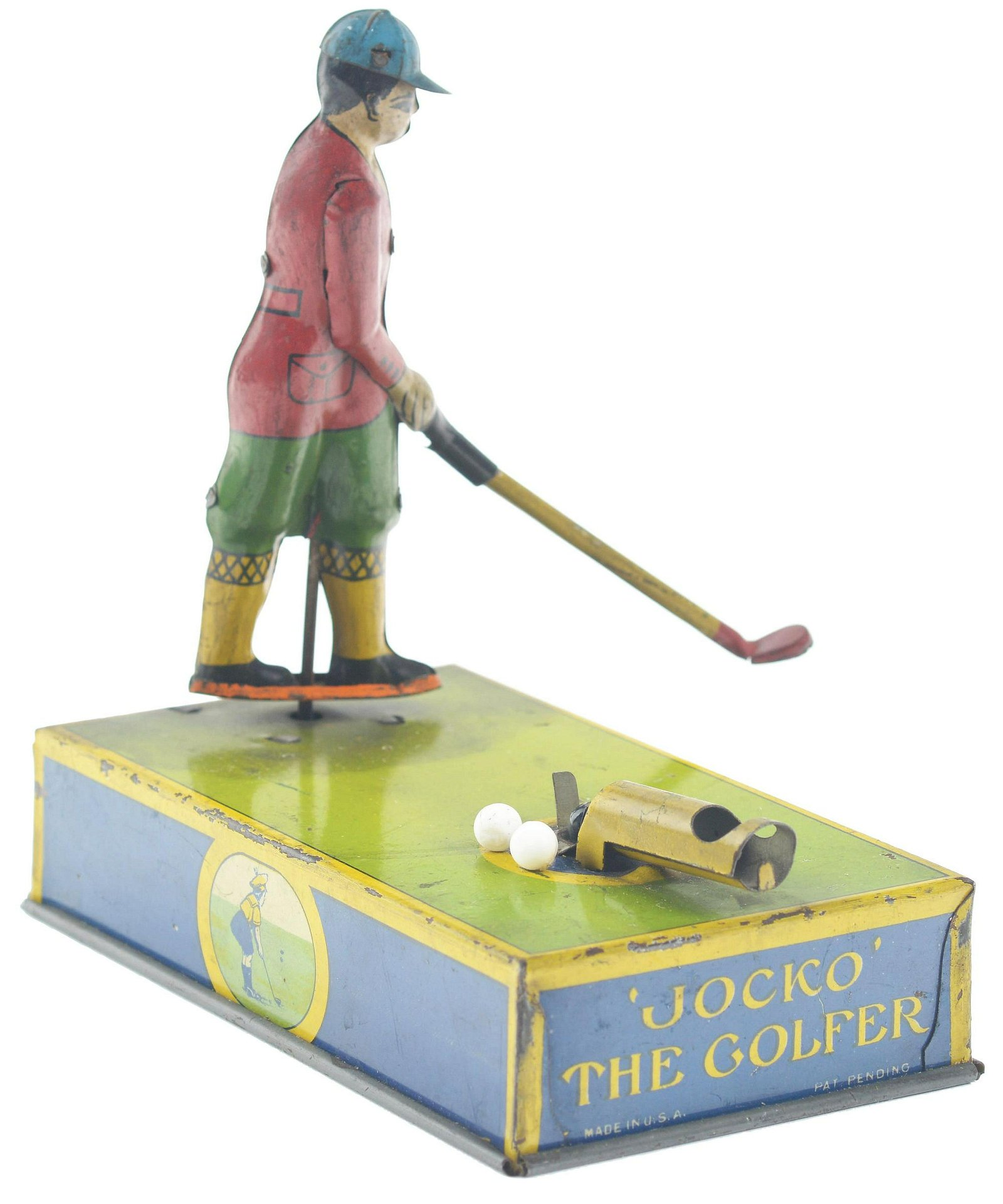 American Tin-Litho Jocko the Golfer Toy.
