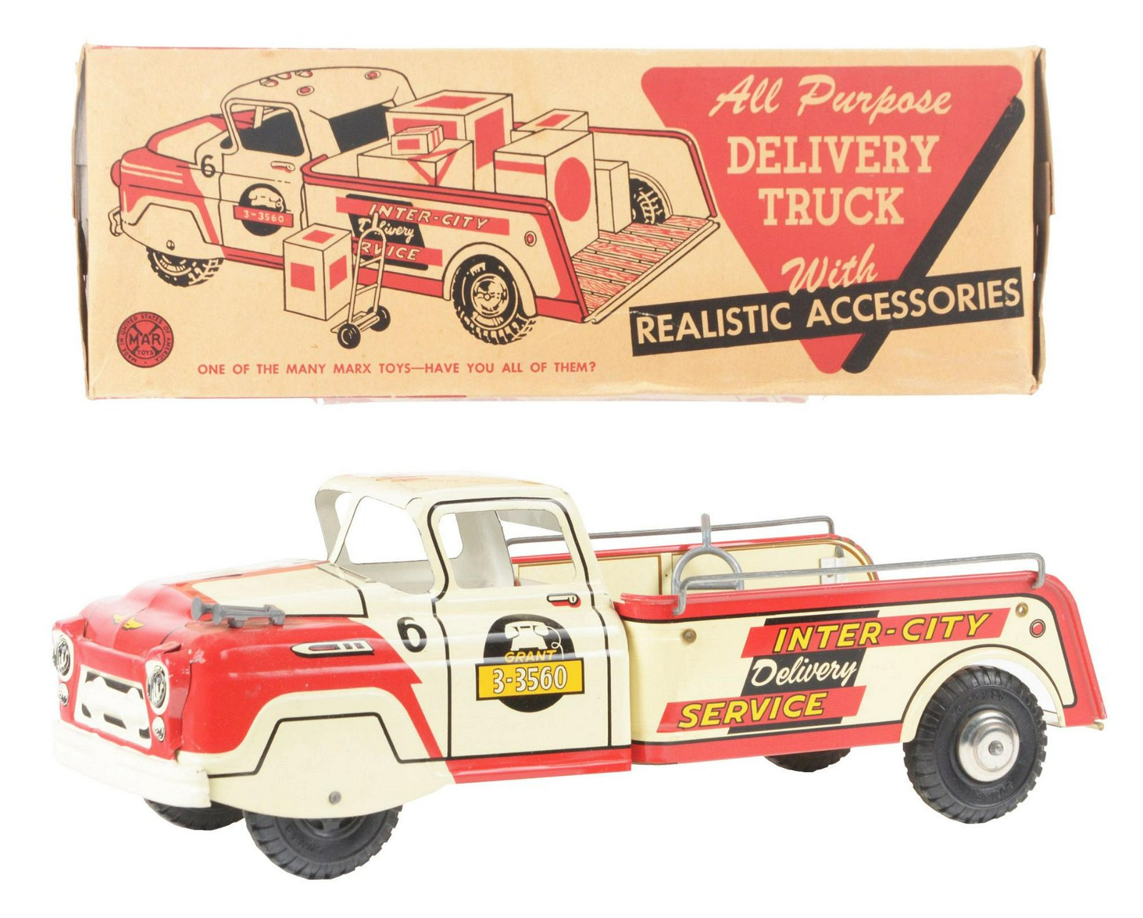 Marx Tin-Litho Inter-City Delivery Service Truck.