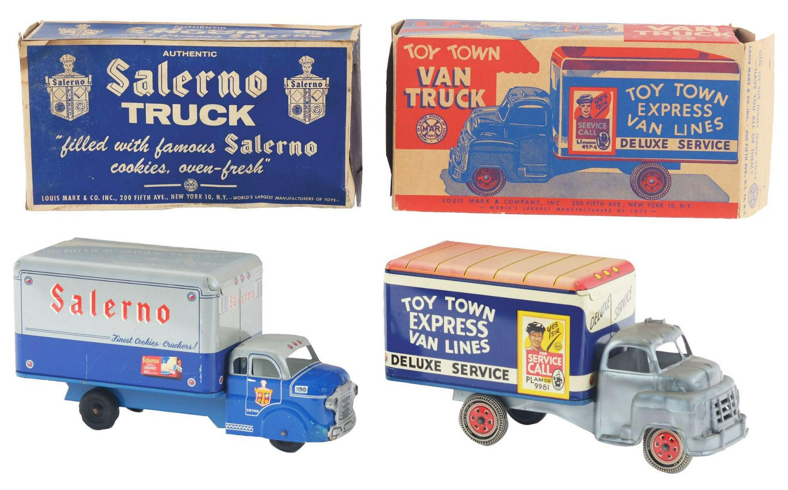 Lot of 2: Marx Transportation Trucks.