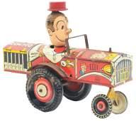 Marx Tin-Litho Wind-Up Dagwood the Driver Car.