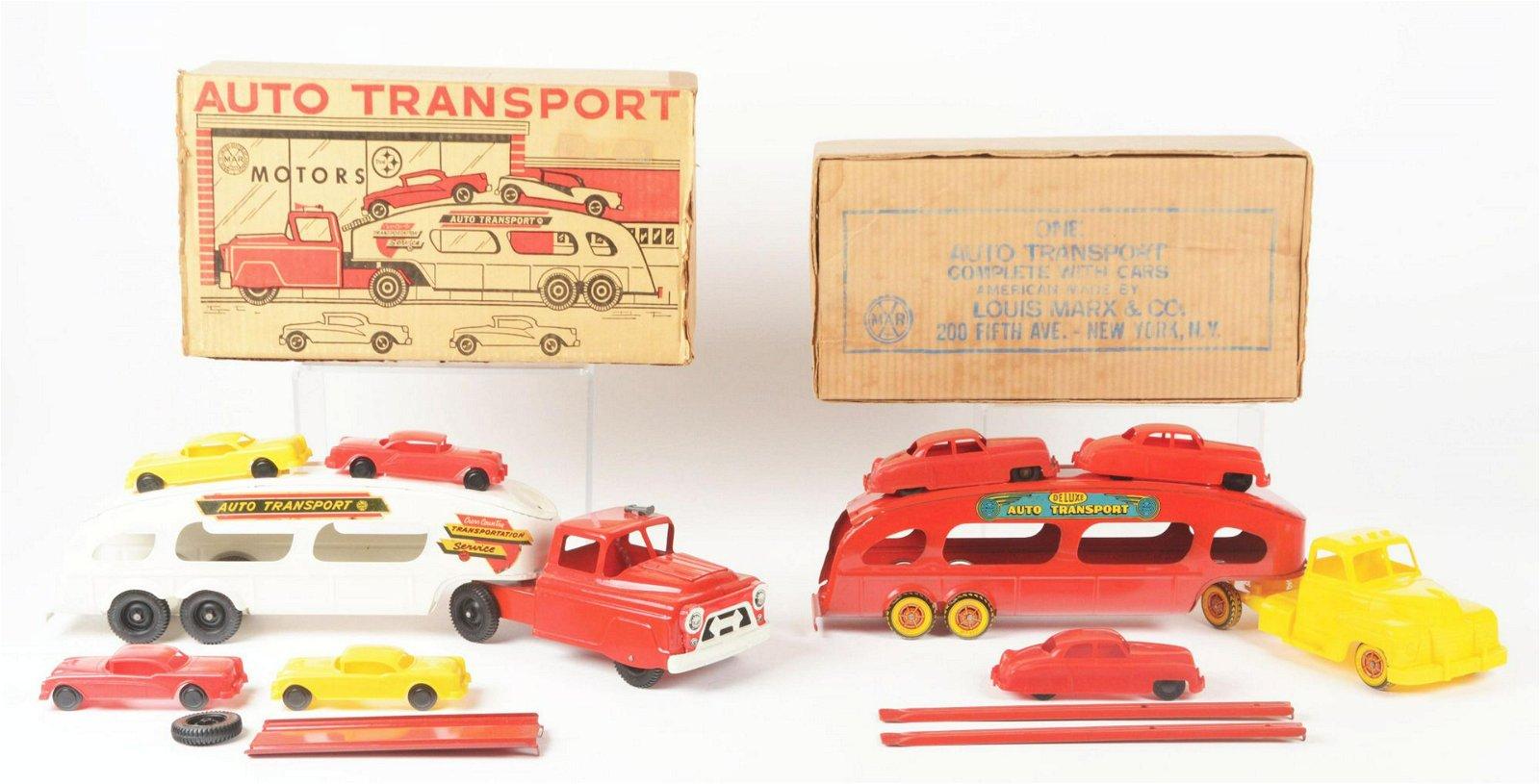 Lot of 2: Marx Pressed Steel Auto Transport Toys.