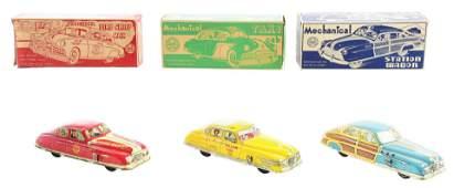 Lot of 3 Marx TinLitho WindUp Automobile Toys