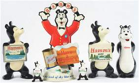 Lot of 8 Hamms Advertising Figures