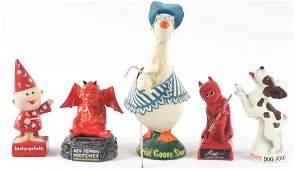 Lot of 5: Advertising Figures - Peppy, Red Demon,