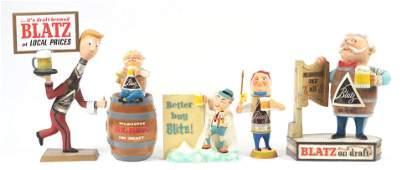 Lot of 5: Blatz Beer Advertising Figures.