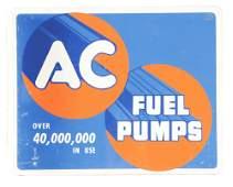 AC Fuel Pumps Tin Flange Sign.