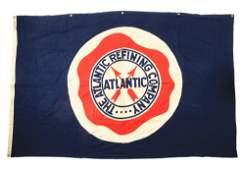 Large Atlantic Gasoline  Motor Oil Cloth Banner