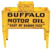 Extremely Rare Buffalo Motor Oil Tin Service Station