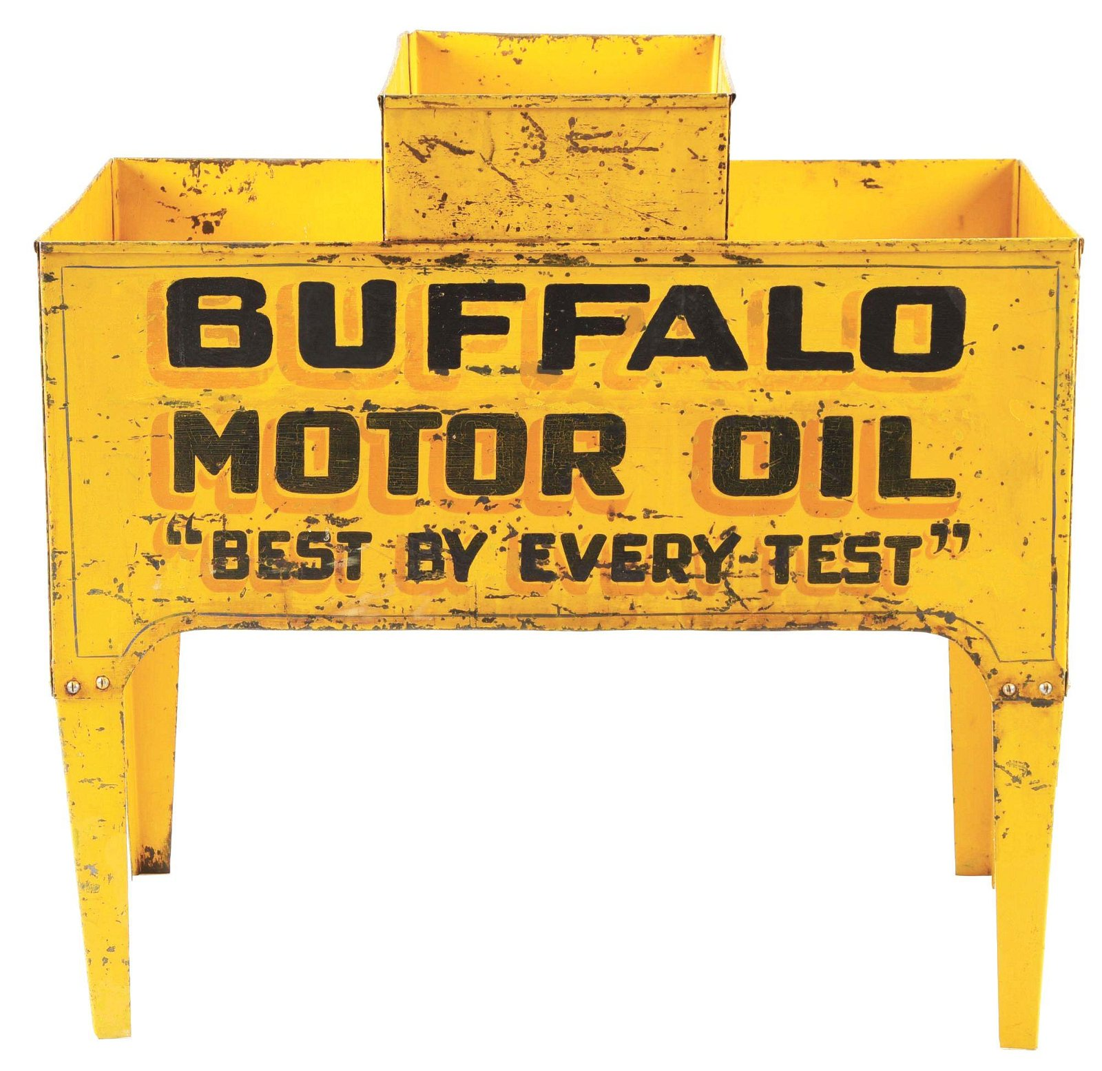 Extremely Rare Buffalo Motor Oil Tin Service Station