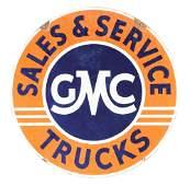 GMC Trucks Sales  Service Porcelain Sign