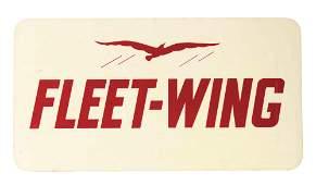 Fleet Wing Gasoline Service Station Sign with Bird