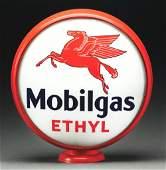 "Mobilgas Ethyl Single 16.5"" Lens On Original Metal"
