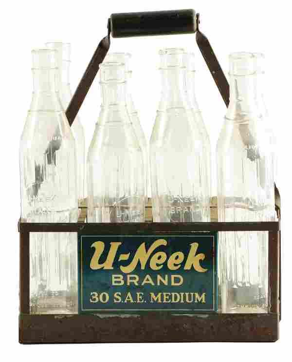 U-Neek Brand Motor Oil Bottle Carrier W/ All Original