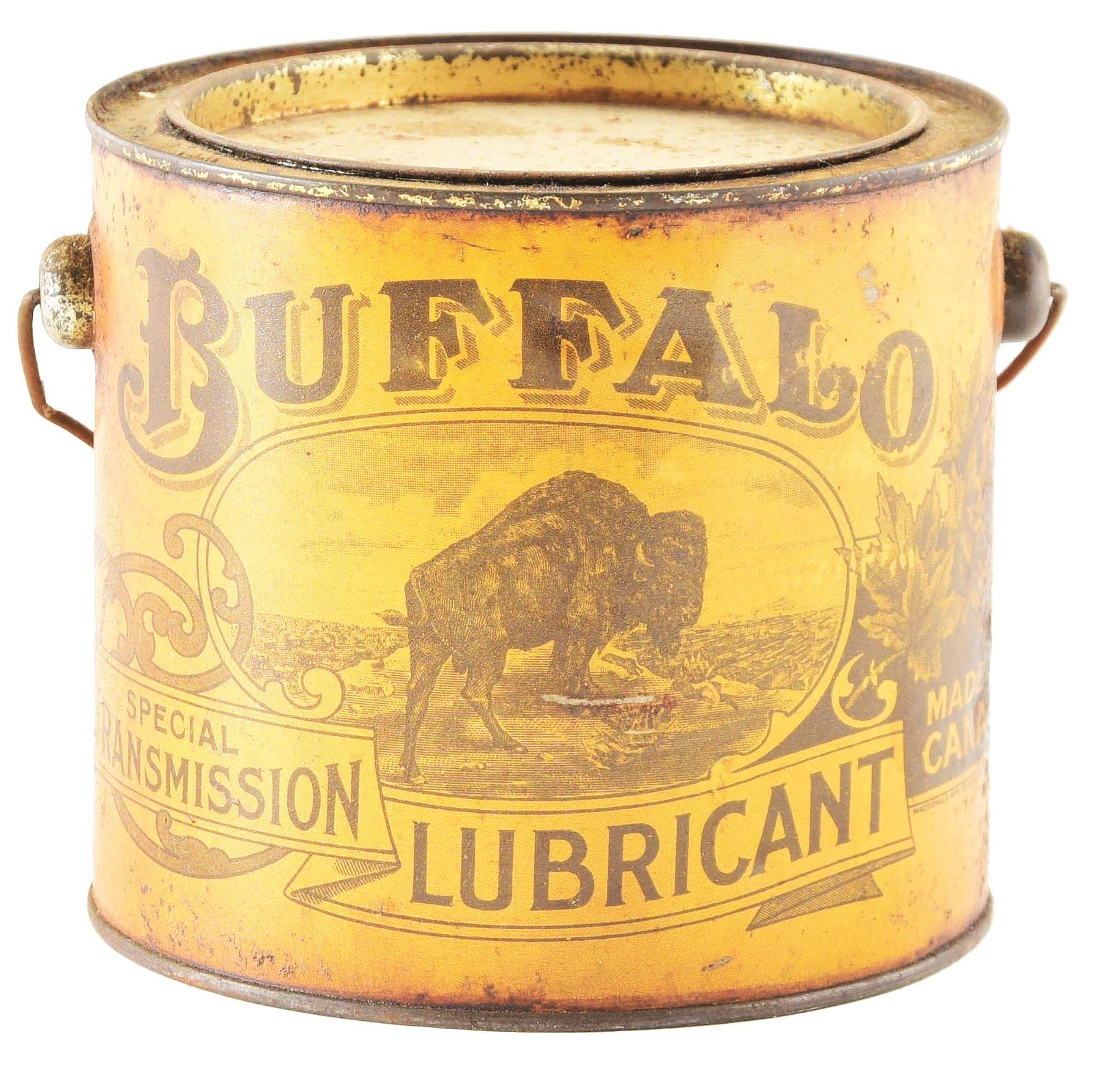 Buffalo Special Transmission Lubricant Grease Can.