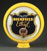 """Richfield Ethyl Gasoline Complete 15"""" Globe On Original"""