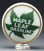 "Rare Maple Leaf Gasoline Single 15"" Globe Lens On"