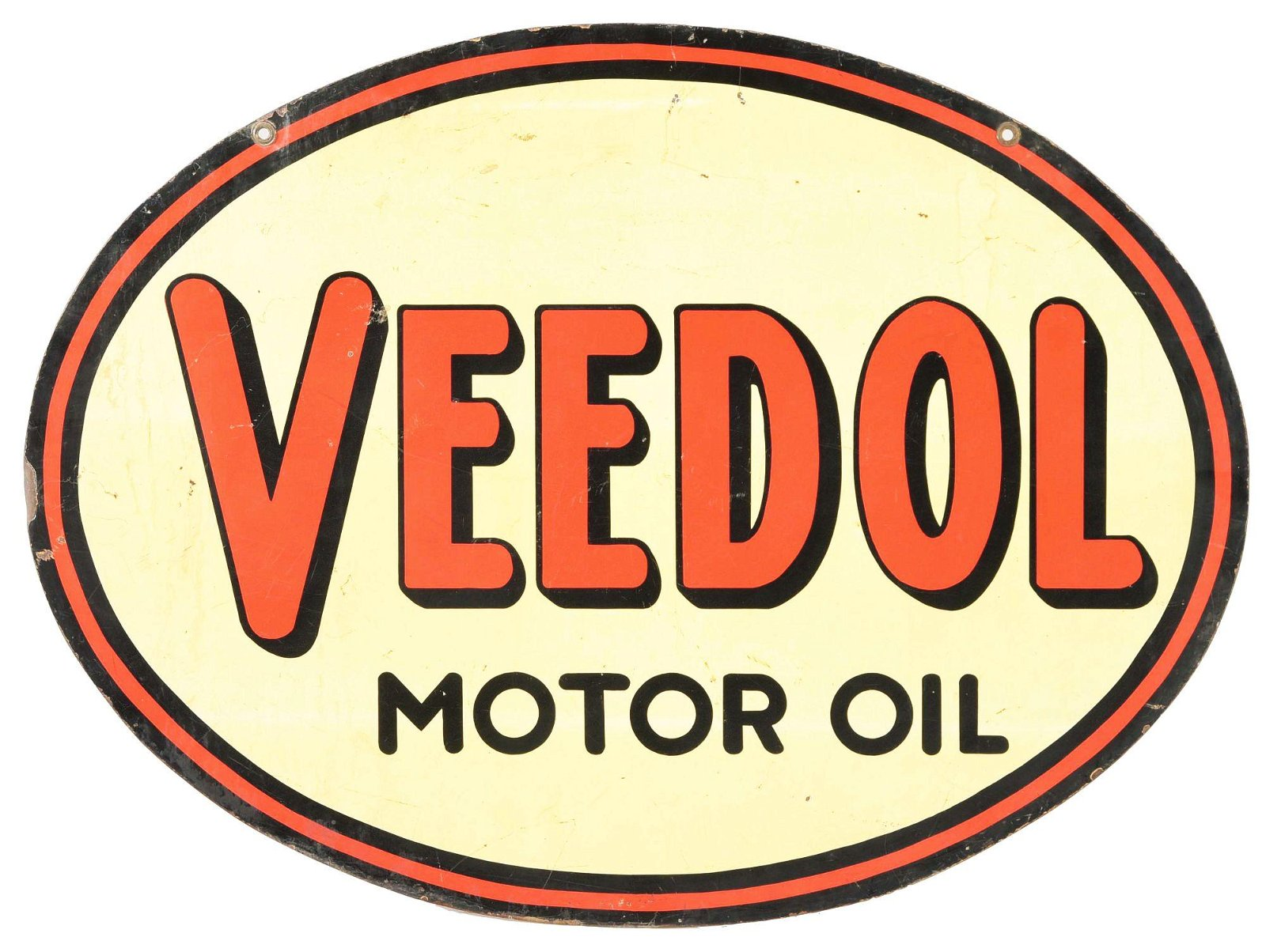 Veedol Motor Oils Tin Oval Sign.