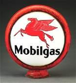 "Mobilgas Gasoline Complete 15"" Globe On Original Metal"