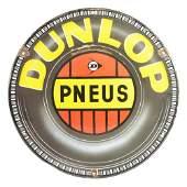 Unique Dunlop Tires Embossed Porcelain Sign.