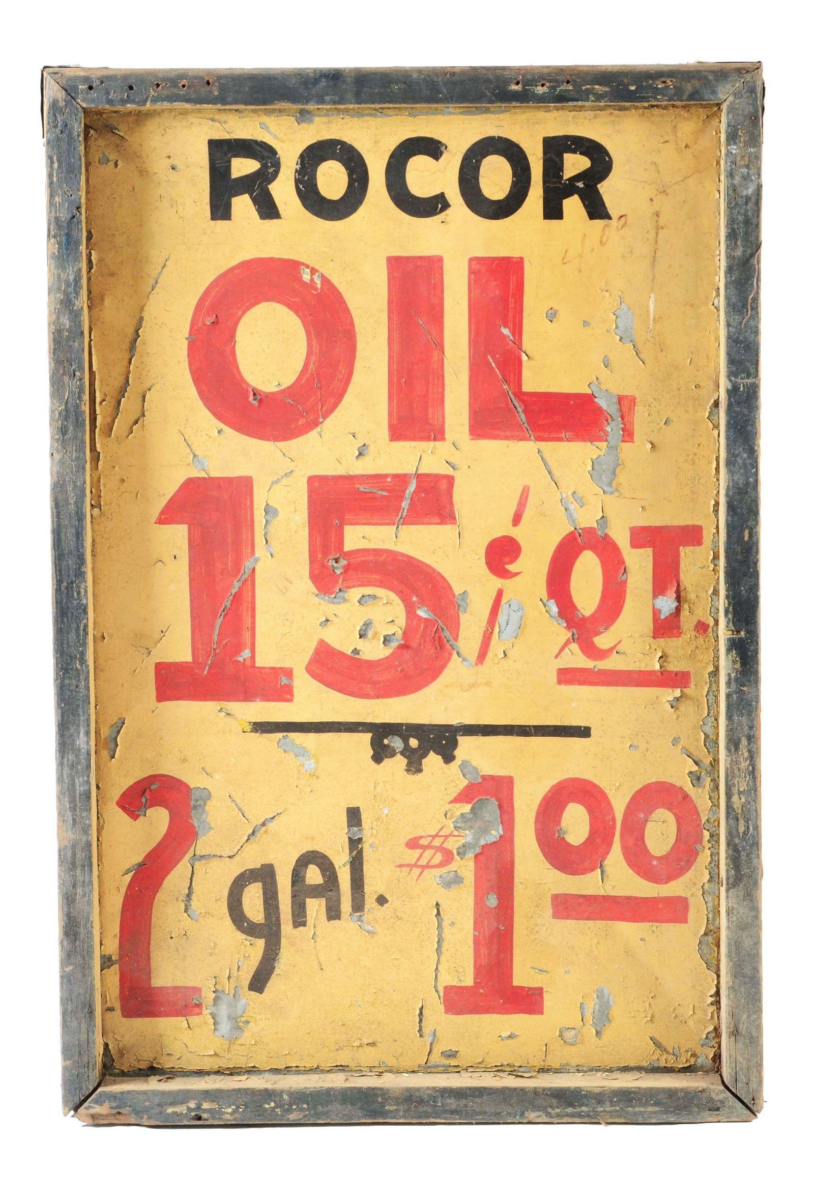 Richfield Oil Company Hand Painted Tin Sign W/ Original
