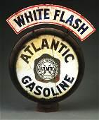 Atlantic Gasoline Single Globe Lens On Original Metal