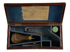 A COLT 1851 NAVY CASE WITH ACCESSORIES