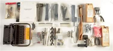 LOT OF M2 50 BROWNING MACHINEGUN PARTS AND