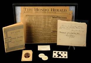 INCREDIBLE JOHN WESLEY HARDIN MEMORABILIA COLLECTION