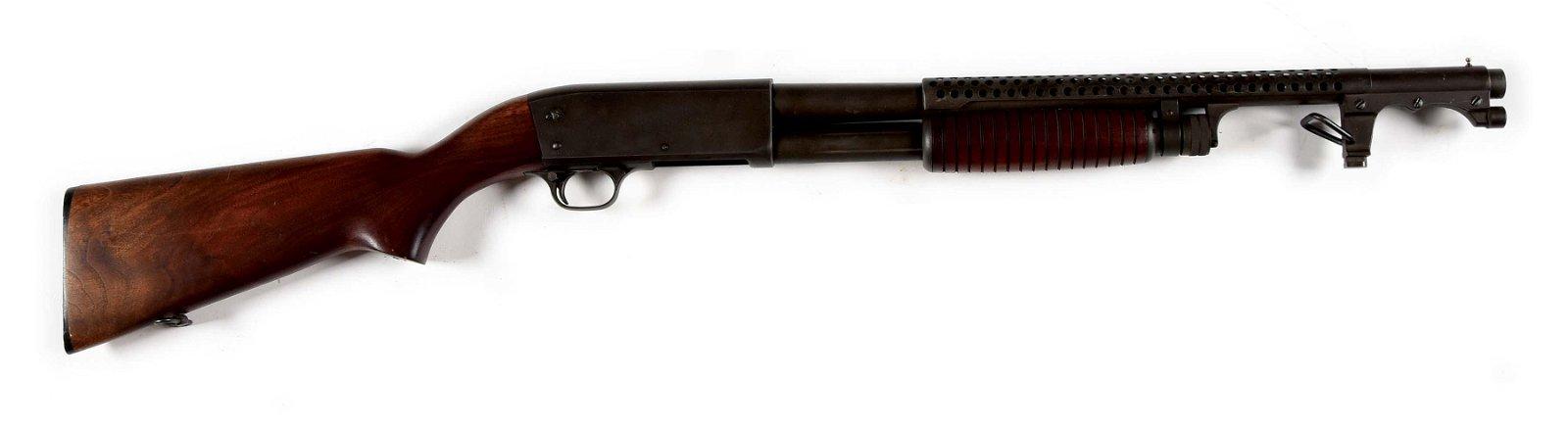(C) SCARCE ITHACA MODEL 37 TRENCH SHOTGUN, MADE IN