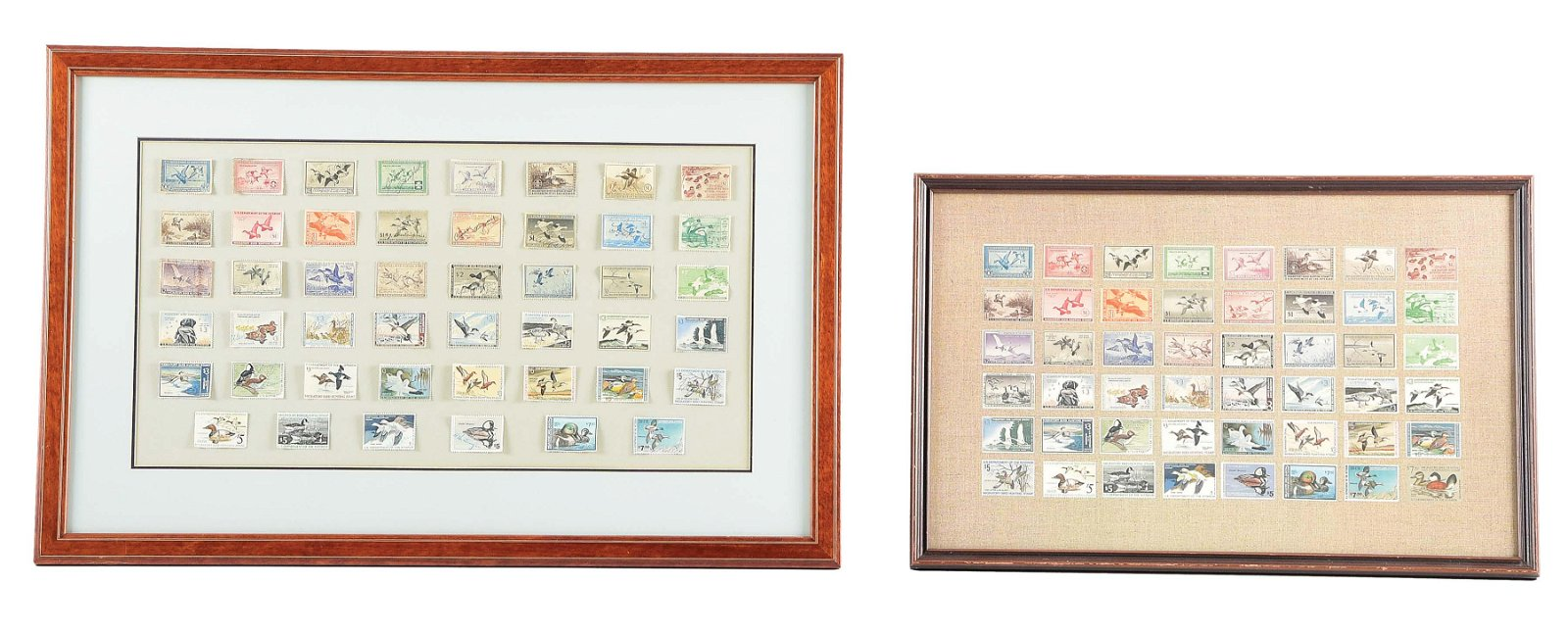 TWO FRAMED VINTAGE FEDERAL DUCK STAMP COLLECTION