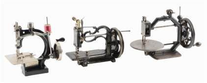 LOT OF 3 SEWING MACHINES SPENCER WITH PAPERWORK GOLD