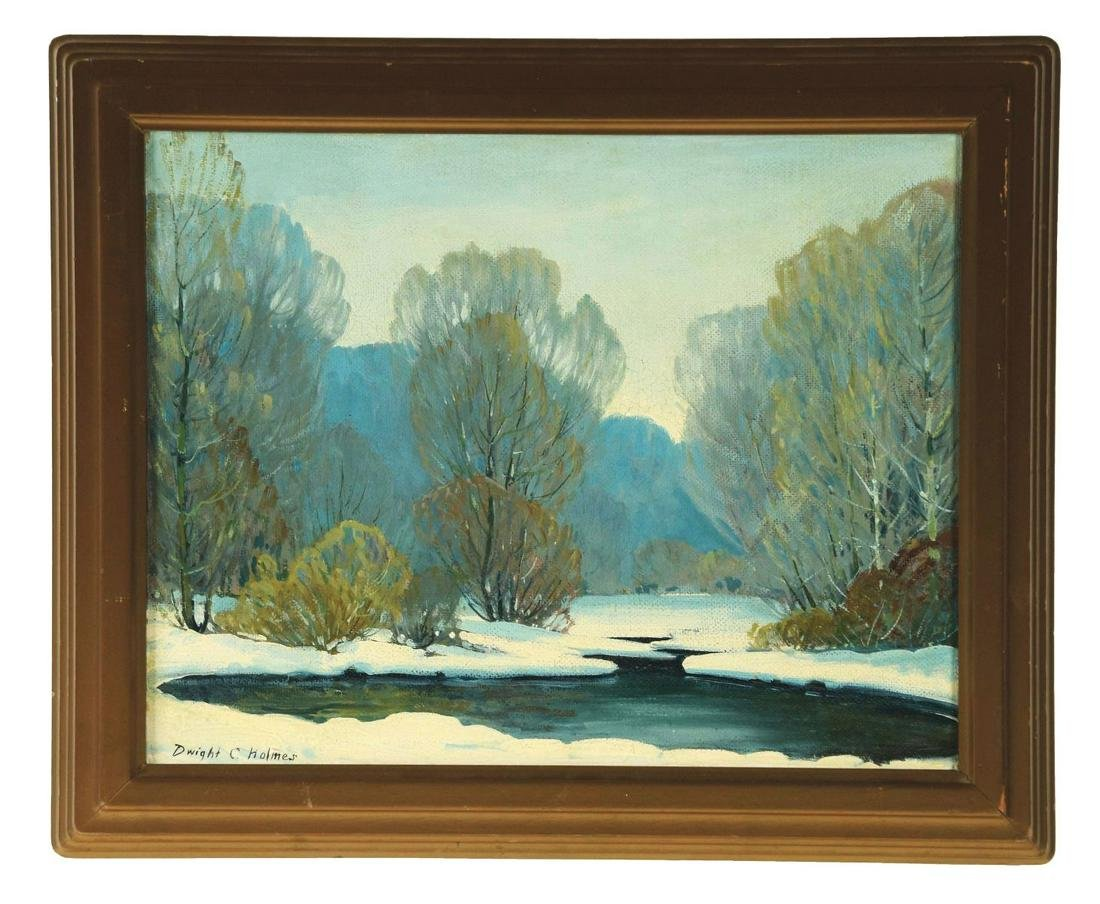 DWIGHT HOLMES (AMERICAN, 1900-1986) SNOWY RIVER.