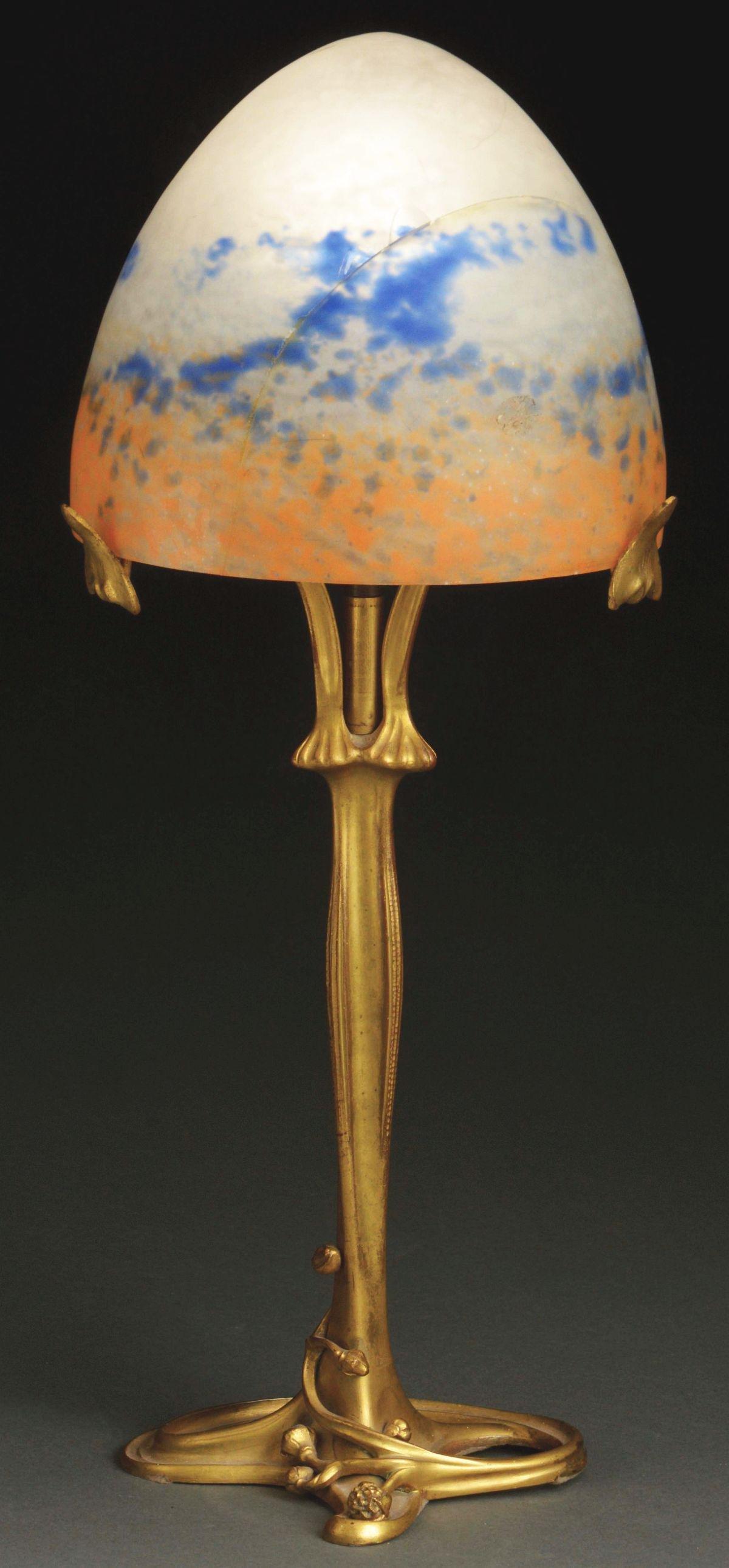 MAJORELLE LAMP BASE.
