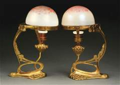 LOT OF 2 PAIR OF LOETZ TABLE LAMPS