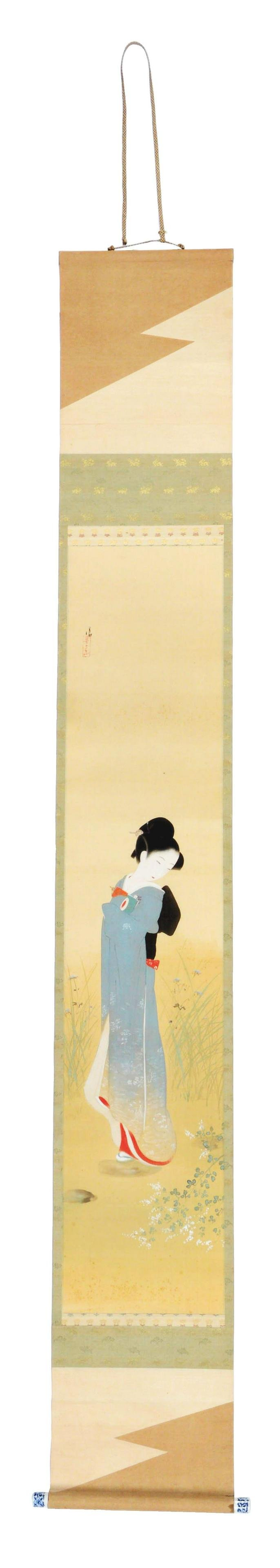 CHINESE SCROLL PAINTING OF A BEAUTIFUL WOMAN.