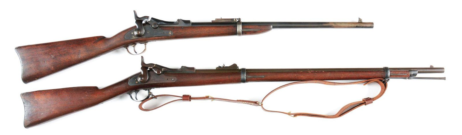 (A) LOT OF TWO: SPRINGFIELD TRAPDOOR .45-70 RIFLE AND
