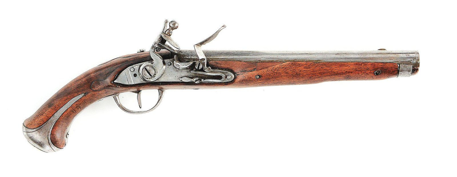 (A) AUSTRIAN MODEL 1770 FLINTLOCK CAVALRY PISTOL.