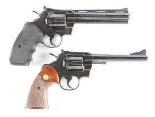 (C) LOT OF TWO: COLT PYTHON AND COLT TROOPER DOUBLE