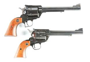 M LOT OF 2 RUGER SINGLE ACTION REVOLVERS
