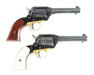 C LOT OF TWO RUGER BEARCAT 22 REVOLVERS
