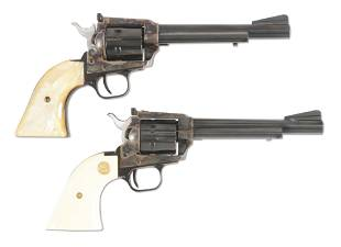 M LOT OF TWO TWO COLT NEW FRONTIER 22 LR REVOLVERS