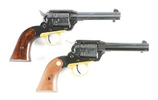 C LOT OF TWO RUGER BEARCAT SINGLE ACTION REVOLVERS